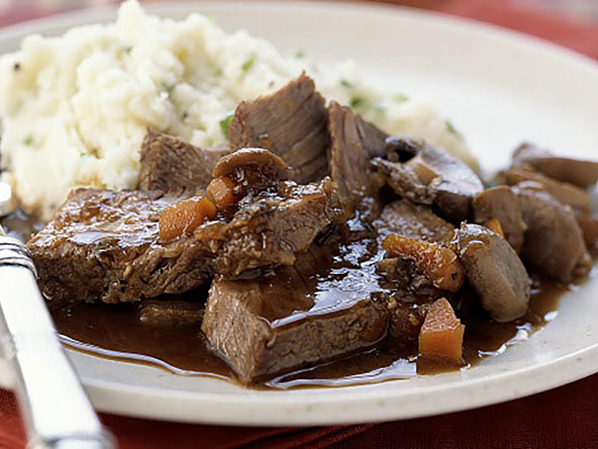Guinness-Braised Chuck Steaks with Horseradish Mashed Potatoes Beer Recipe