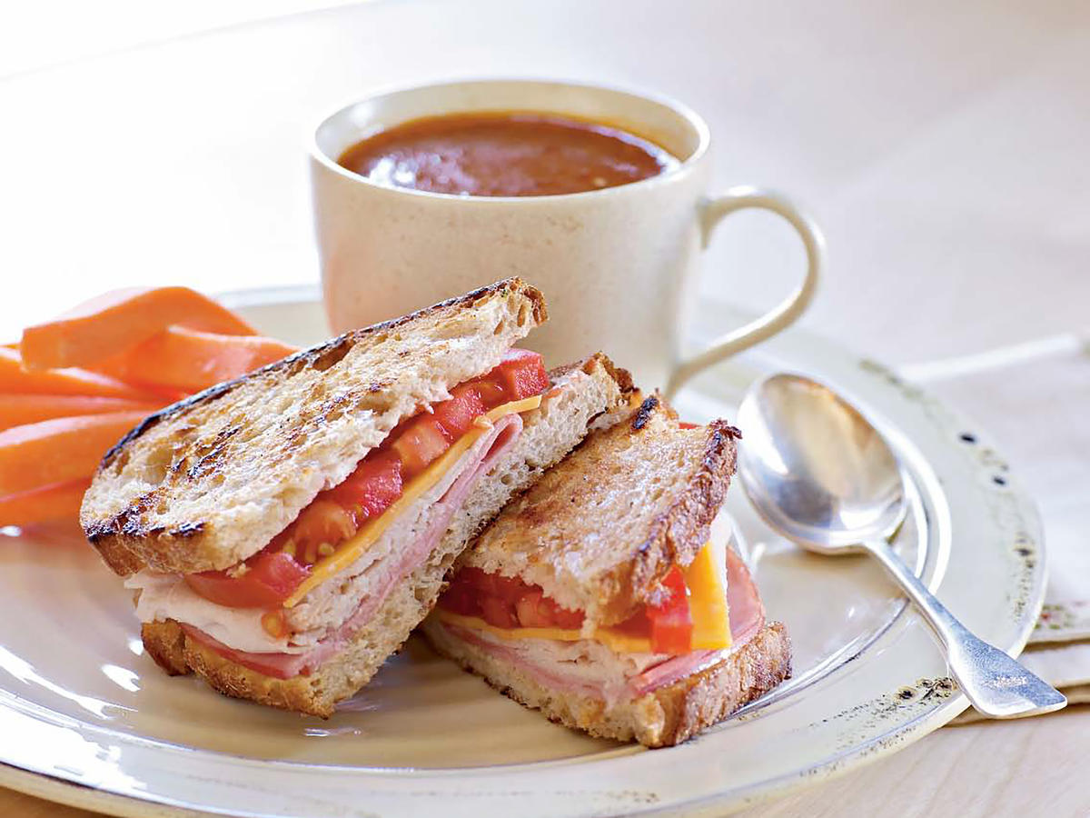 Grilled Turkey and Ham Sandwiches Makeover
