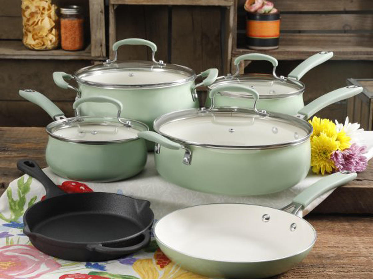 Classic Belly Gradient Mint 10-Piece Cookware Set
