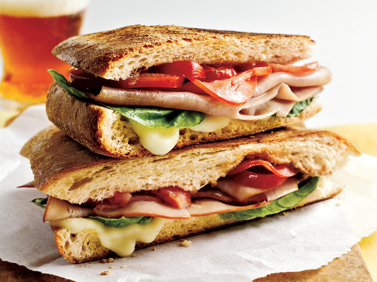 Mozzarella, Ham, and Basil Panini Makeover