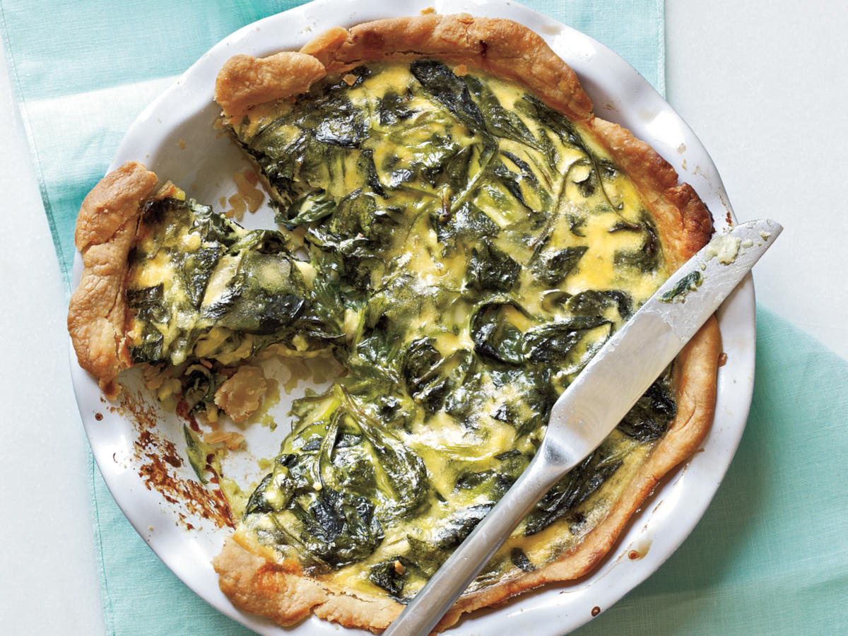 Spinach, Green Onion, and Smoked Gouda Quiche Recipes