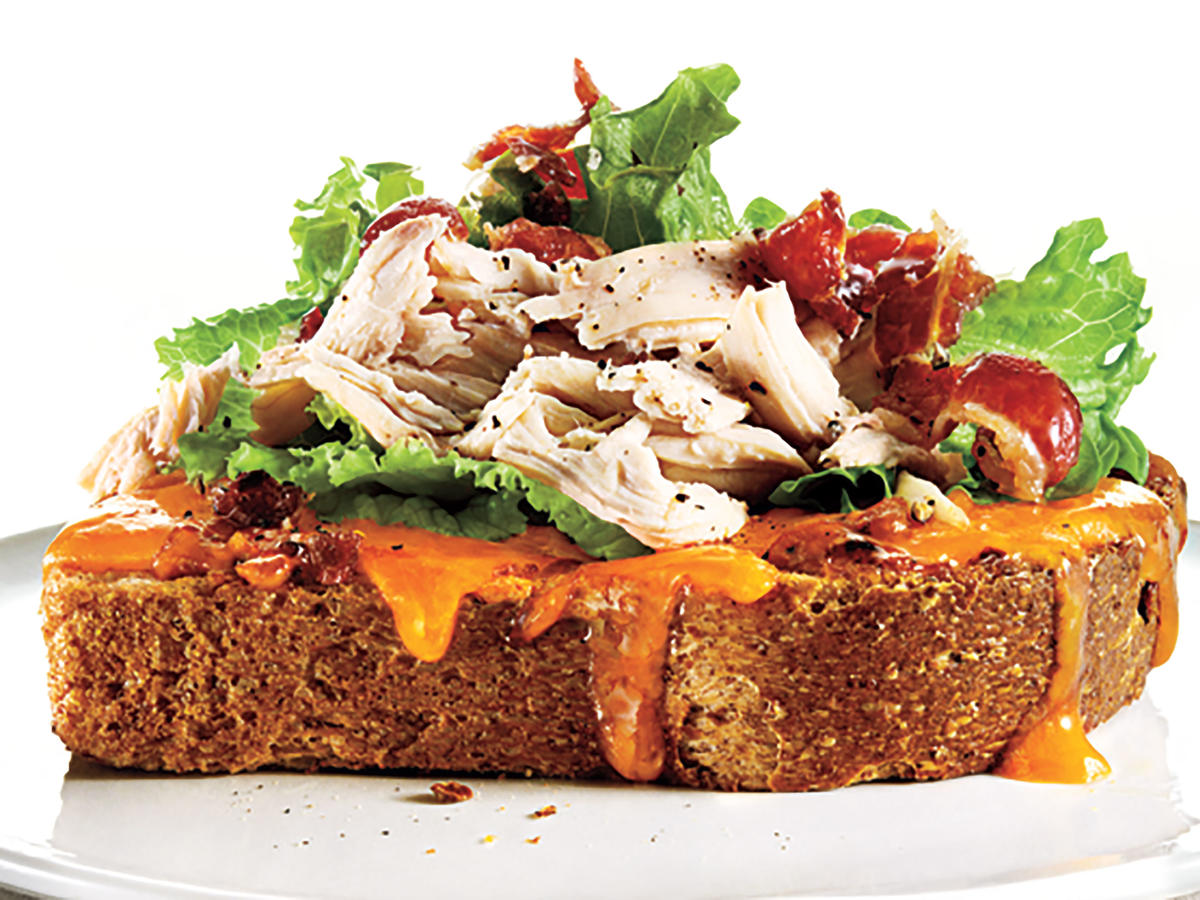 Open-Faced Apricot-Chipotle Chicken Club