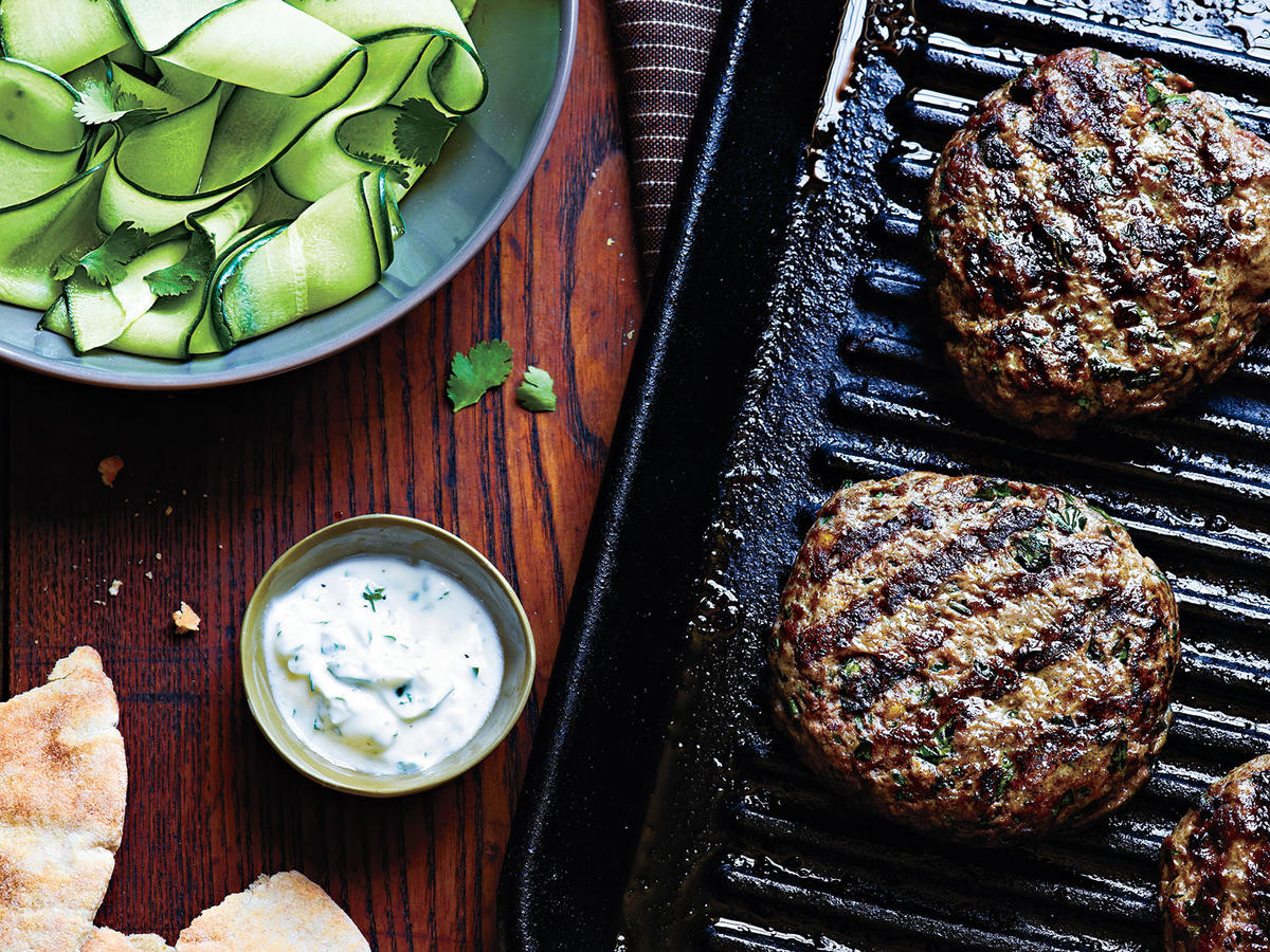 Beef Kefta Patties With Cucumber Salad Recipes