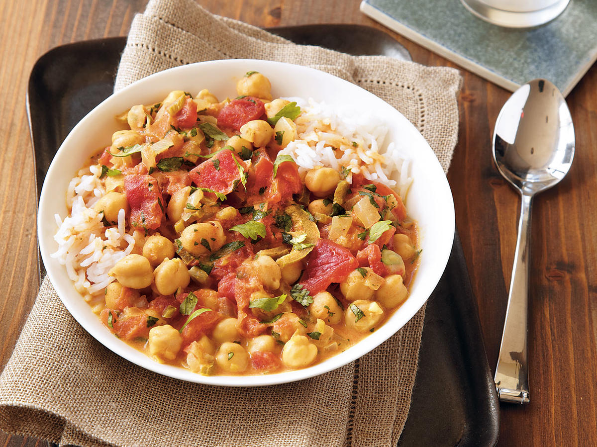 Chickpeas in Curried Coconut Broth