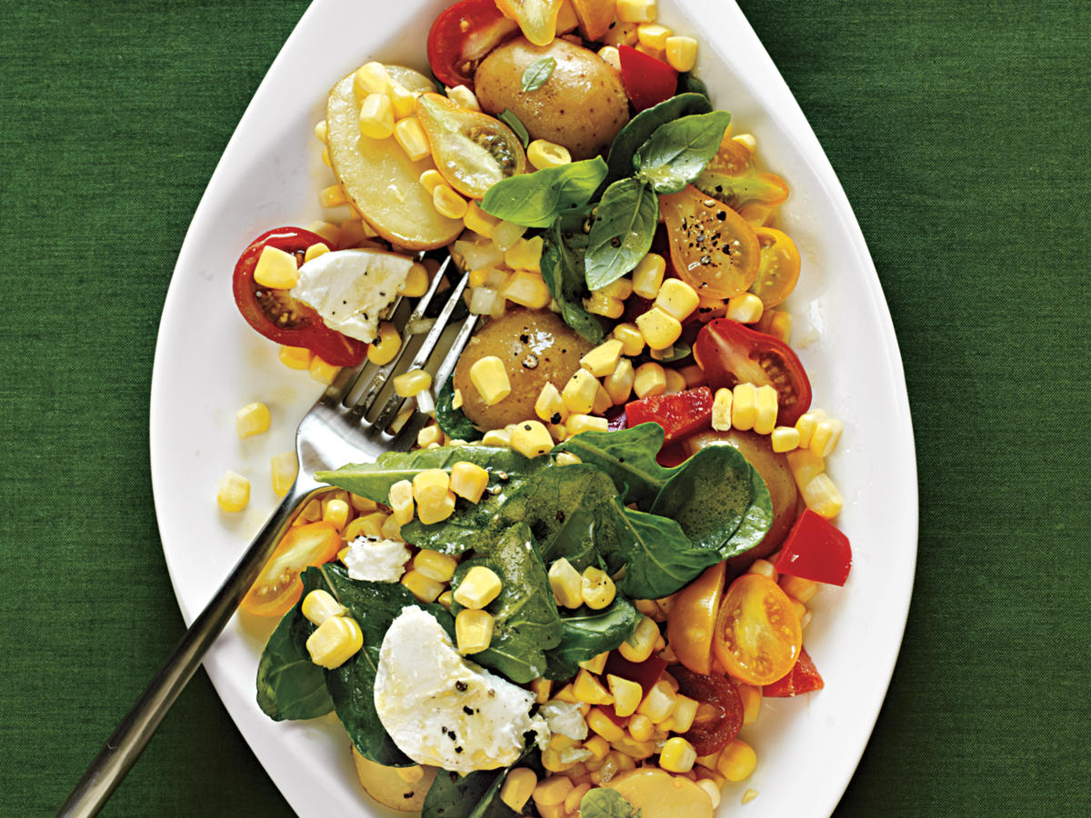 Golden Corn Salad with Fresh Basil