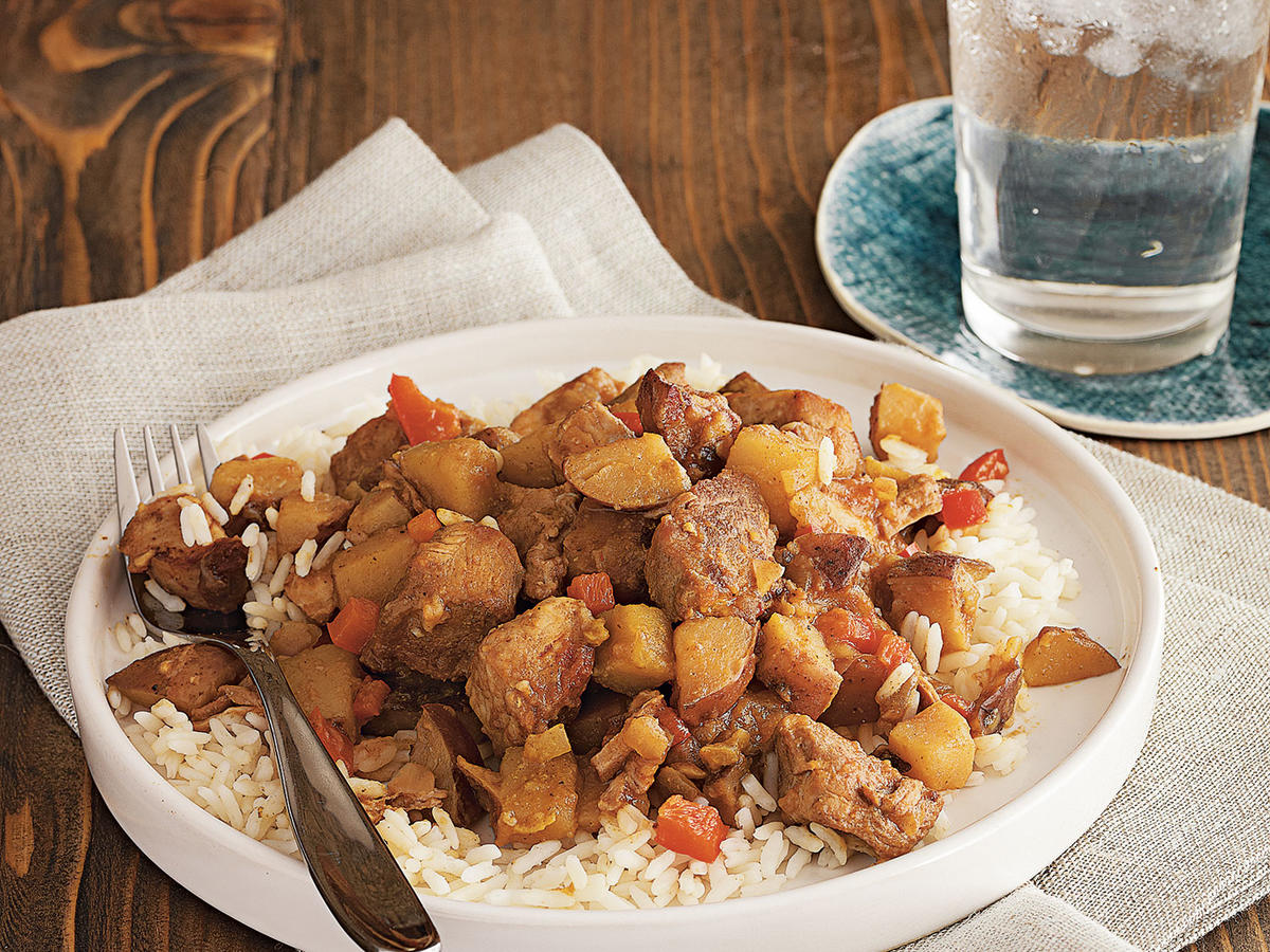Curried Pork over Basmati Rice