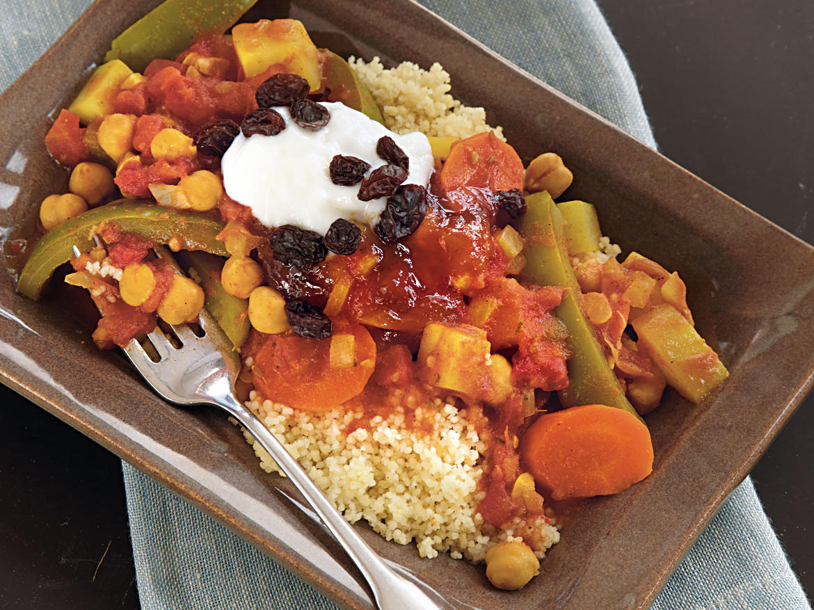 Curried Vegetables on Couscous Recipe