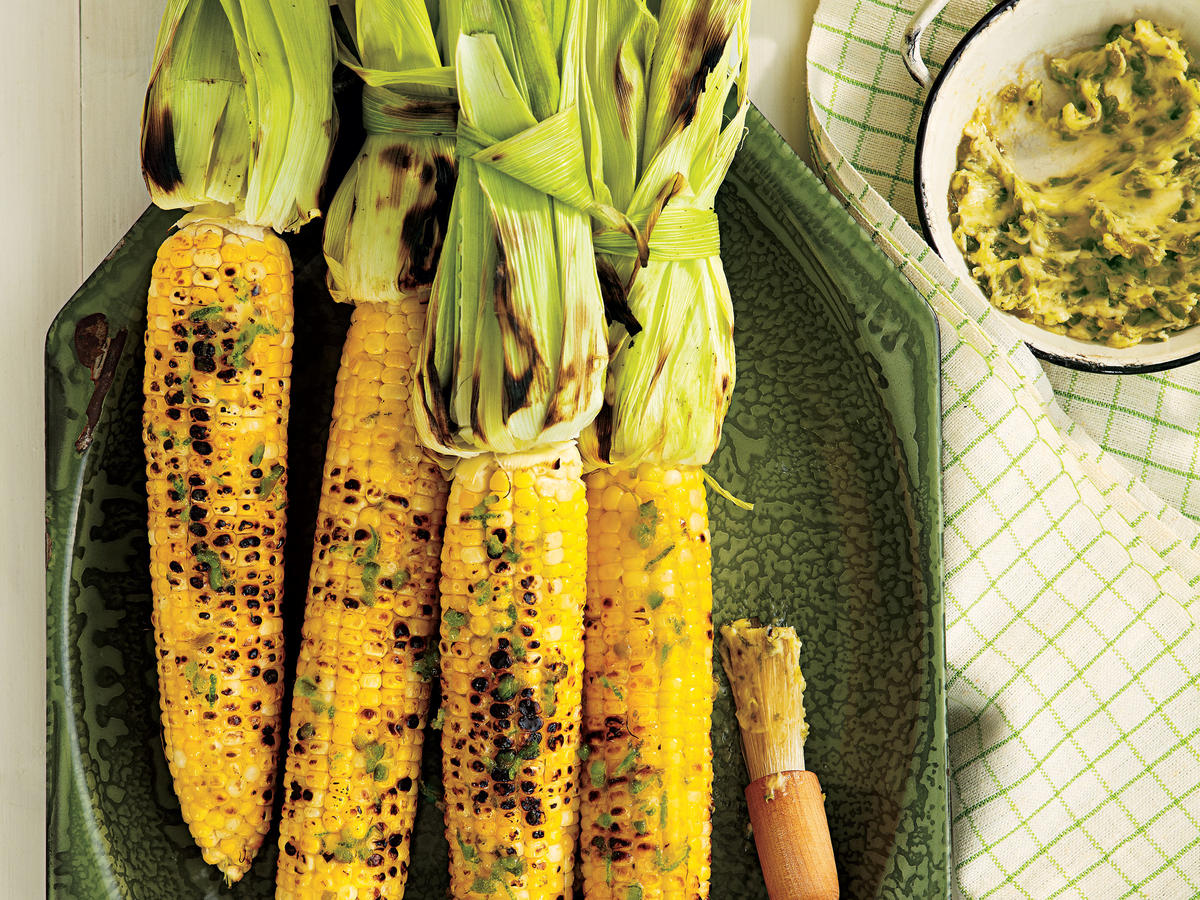 1507 Grilled Corn on the Cob with Roasted Jalapeño Butter