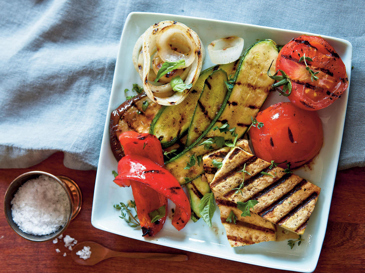 Grilled Tofu Ratatouille
