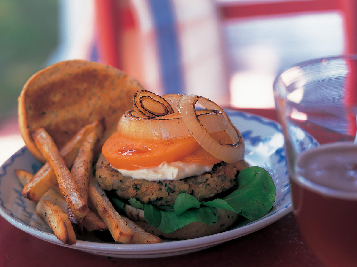 Red-Lentil Burgers with Aioli Recipes