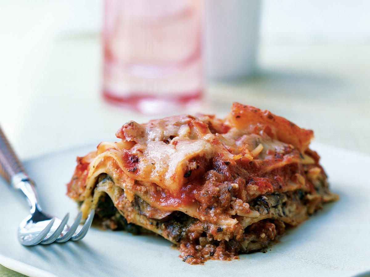 Pesto Lasagna with Spinach and Mushrooms Recipes