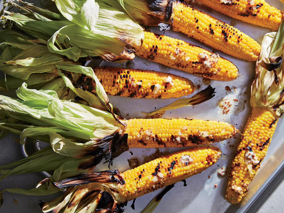 Smoky Beer-Poached Grilled Corn