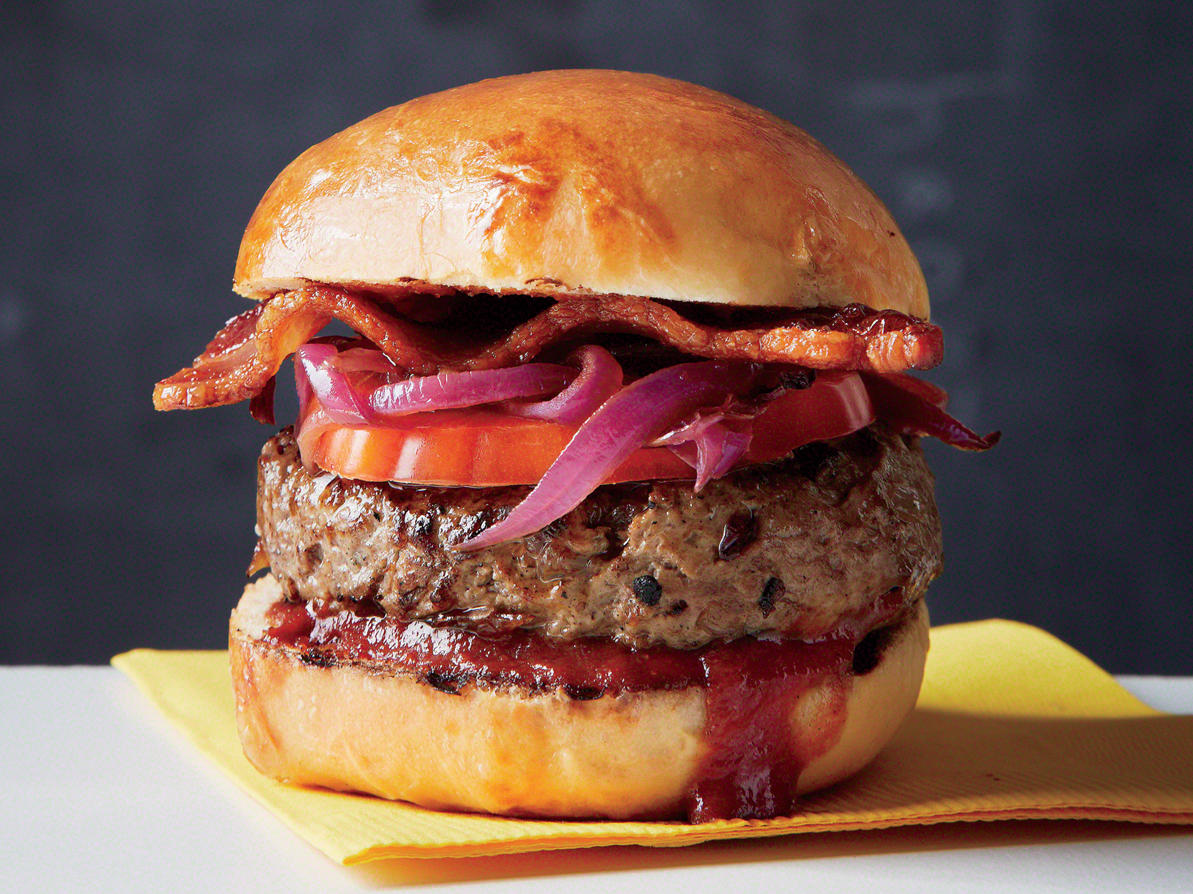 Tennessee Burger with Bourbon and BBQ Sauce