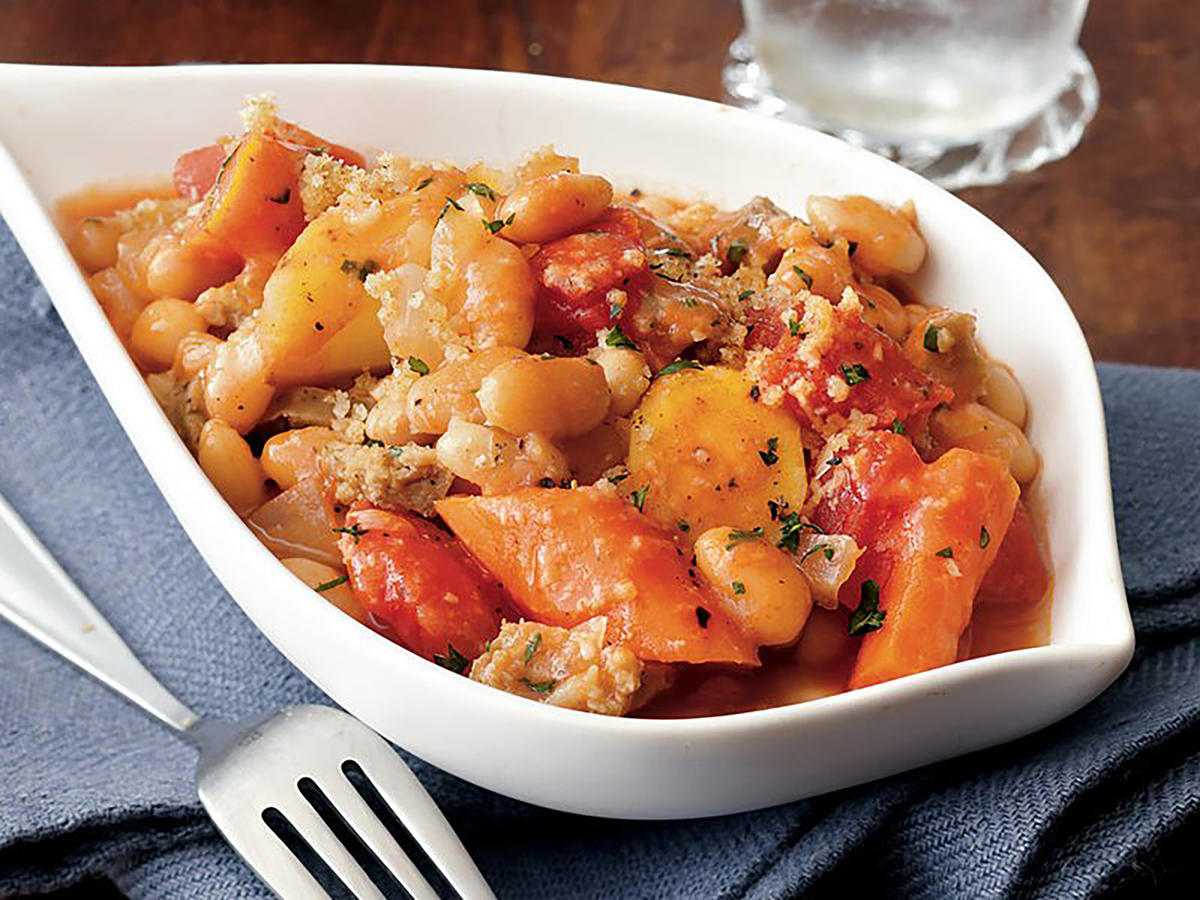 Thyme-Scented White Bean Cassoulet Recipe