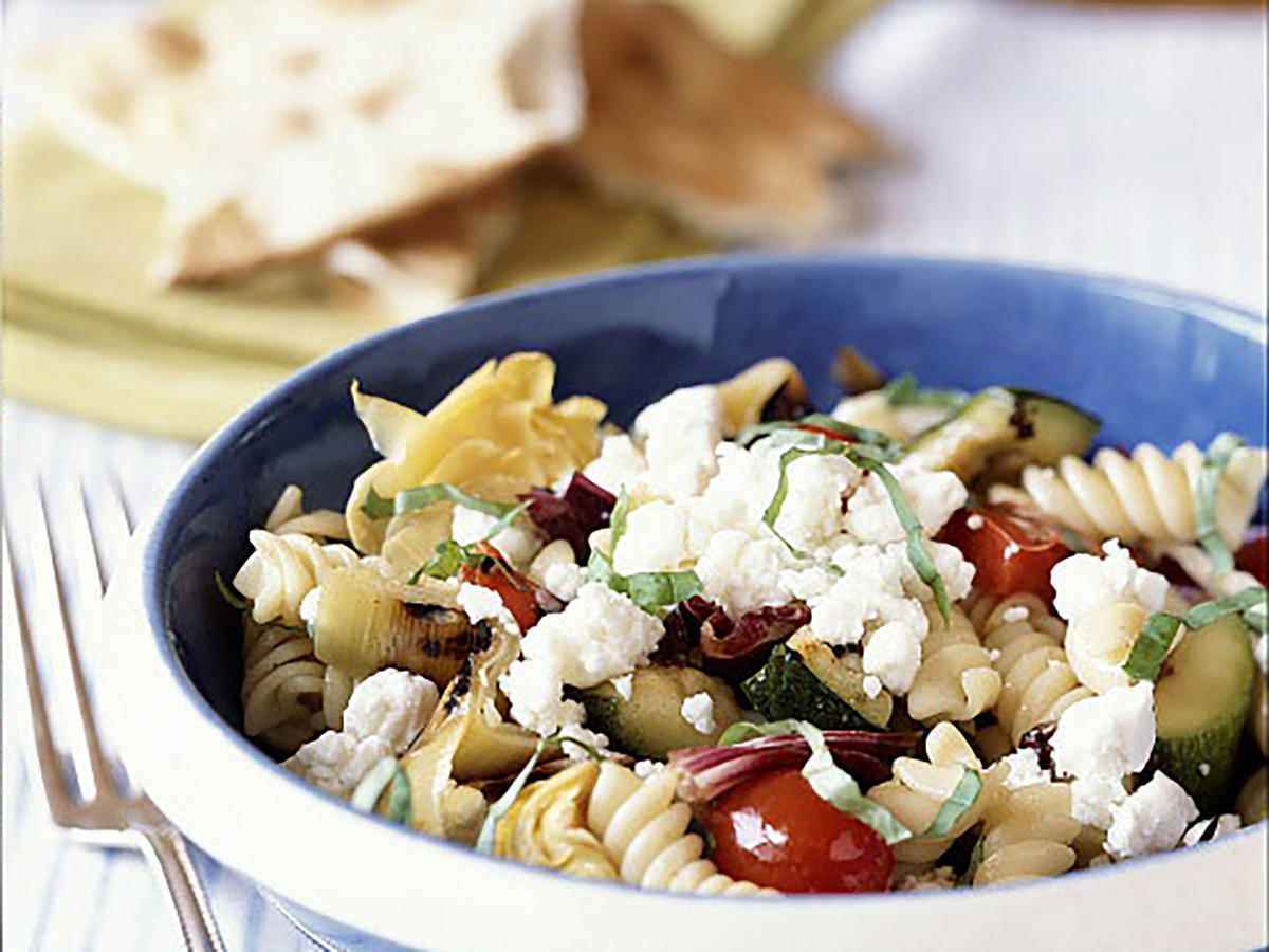 Pasta and Grilled Vegetables With Goat Cheese