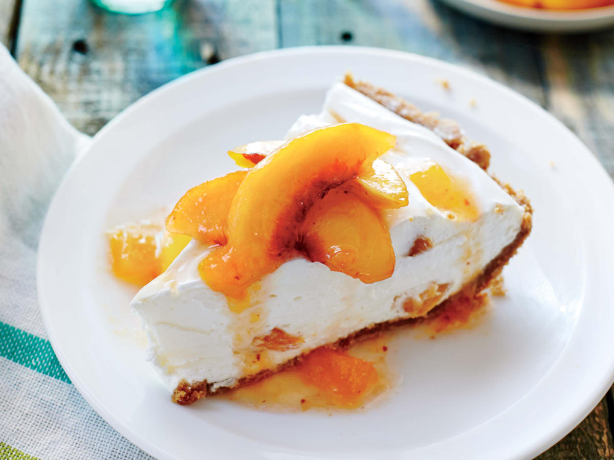 No-Bake Peach Pie