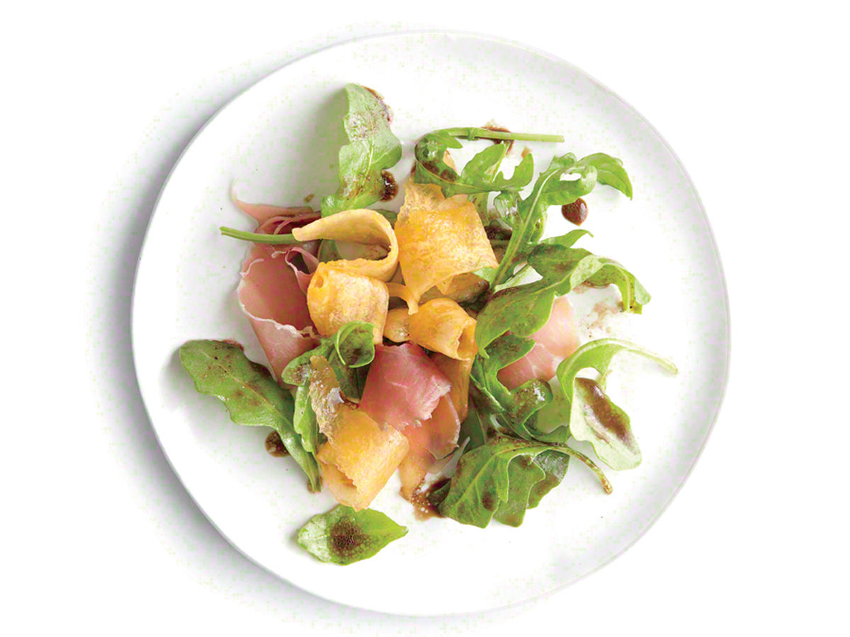 Arugula Salad with Melon and Prosciutto