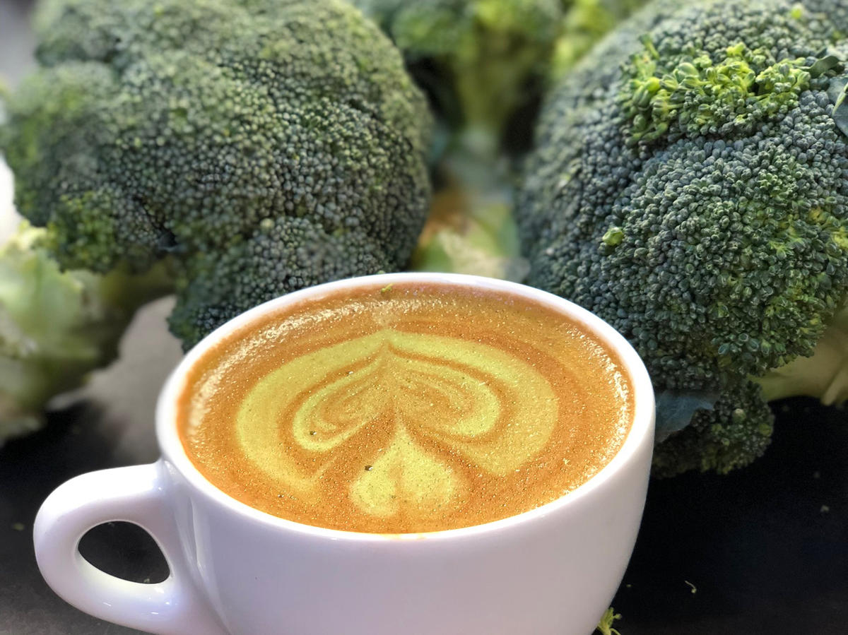 People Aren't Eating Enough Veggies so Now We Have to Have Broccoli Coffee