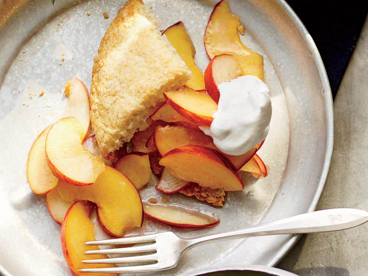Peachy Almond Shortcakes