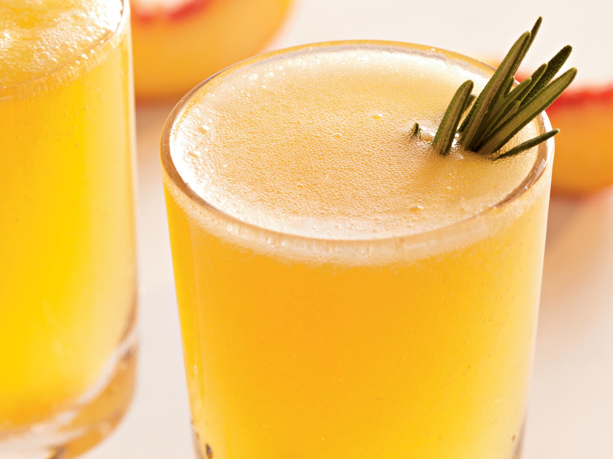 Treat Yourself: Sparkling Rosemary-Peach Cocktails