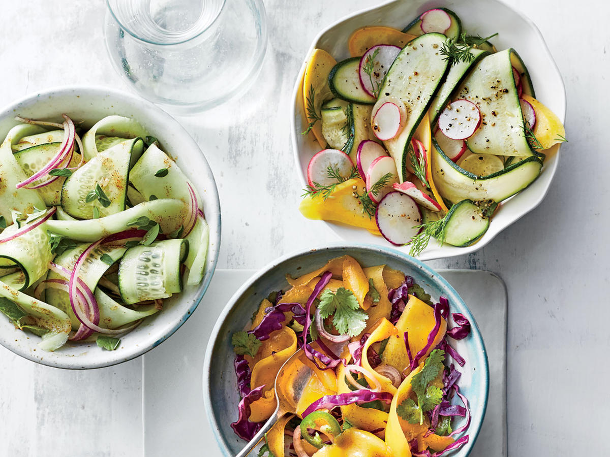 Shaved Honeydew-and-Cucumber Salad