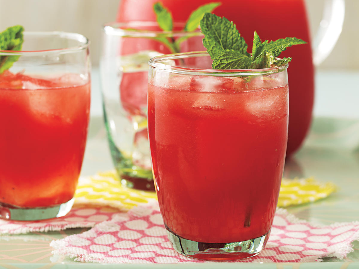 Minted Lemon-Lime Watermelon Agua Fresca