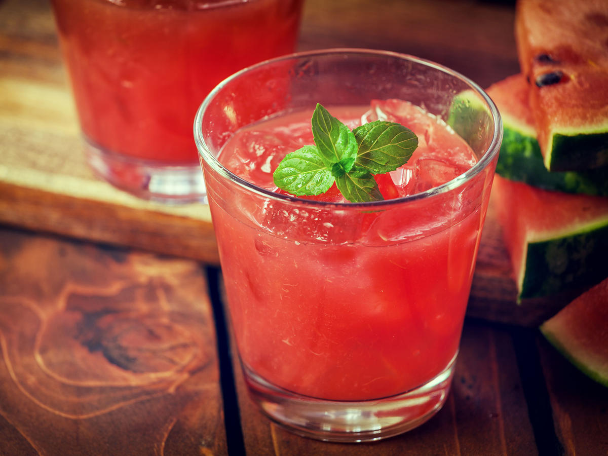 Basil-Infused Watermelon Lemonade