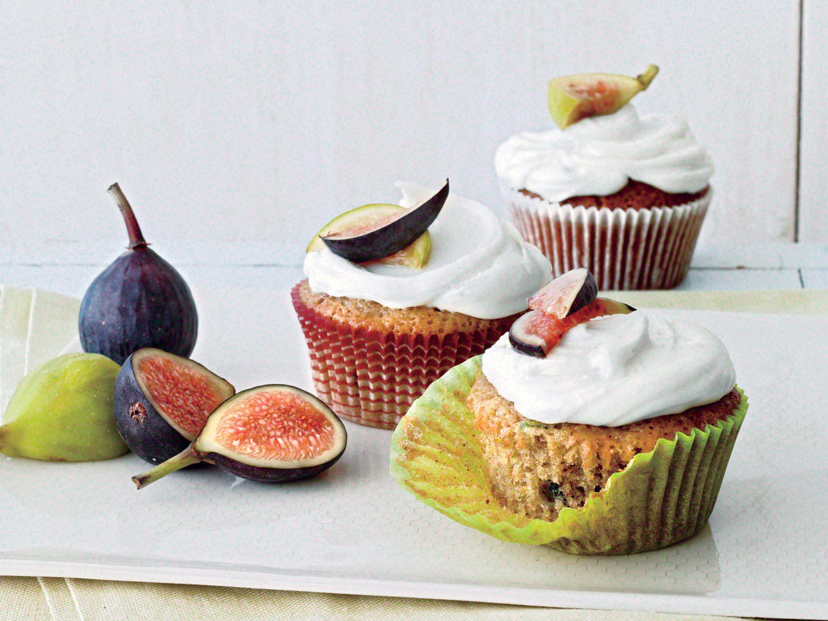 Green Tomato and Fig Cupcakes