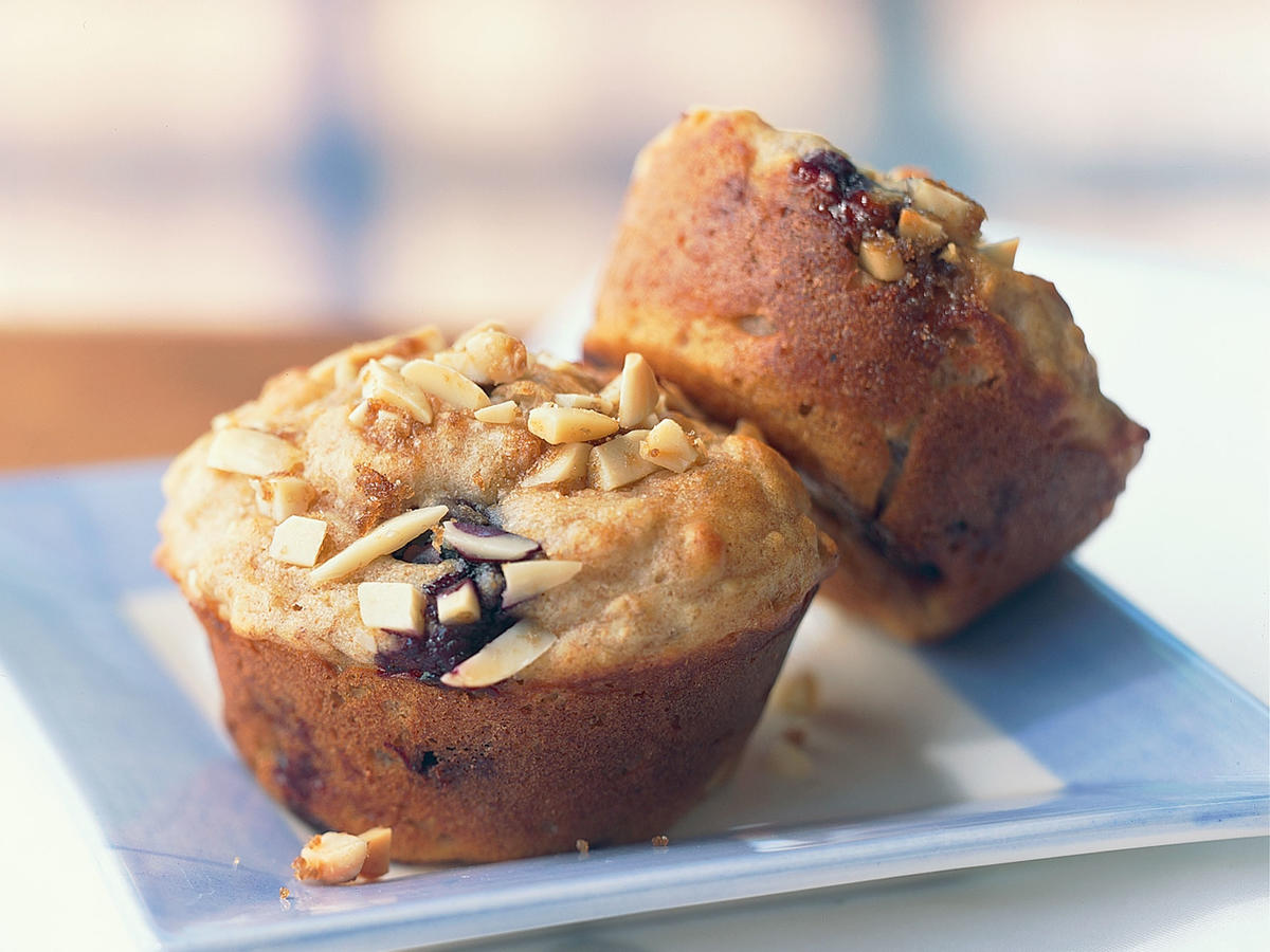 Kids' Blueberry Power Muffins with Almond Streusel