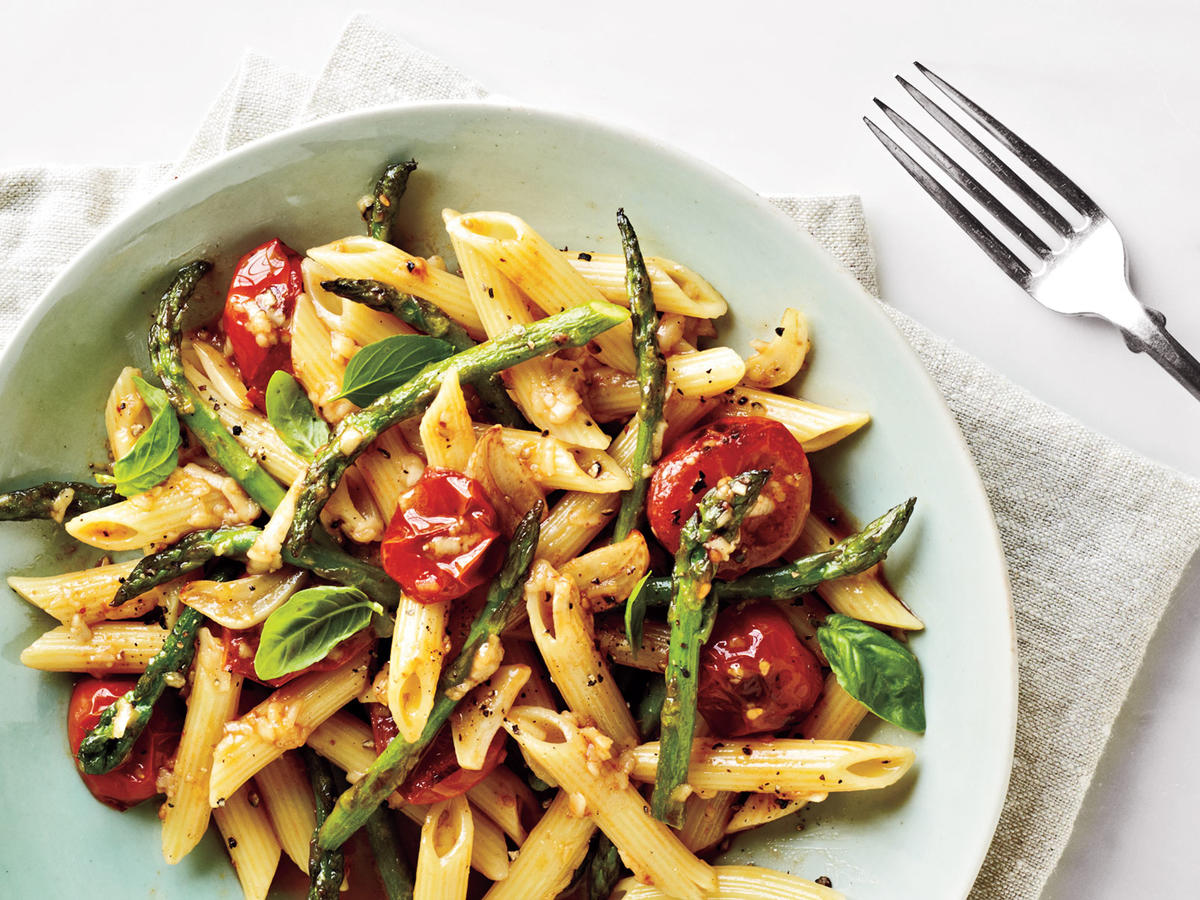 "Tomato and Asparagus ""Carbonara"""