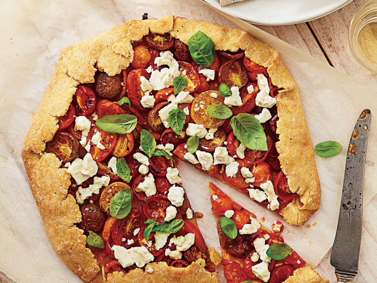 Summer Tomato, Feta, and Basil Galette