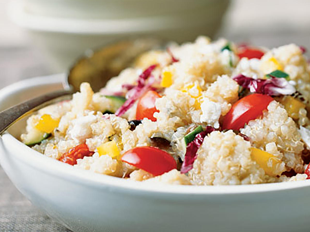 Colorful Quick Quinoa Grecian Salad