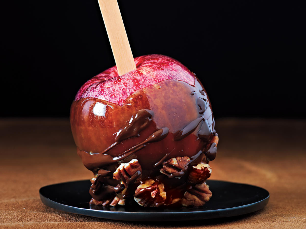 Chocolate-Toffee Apples