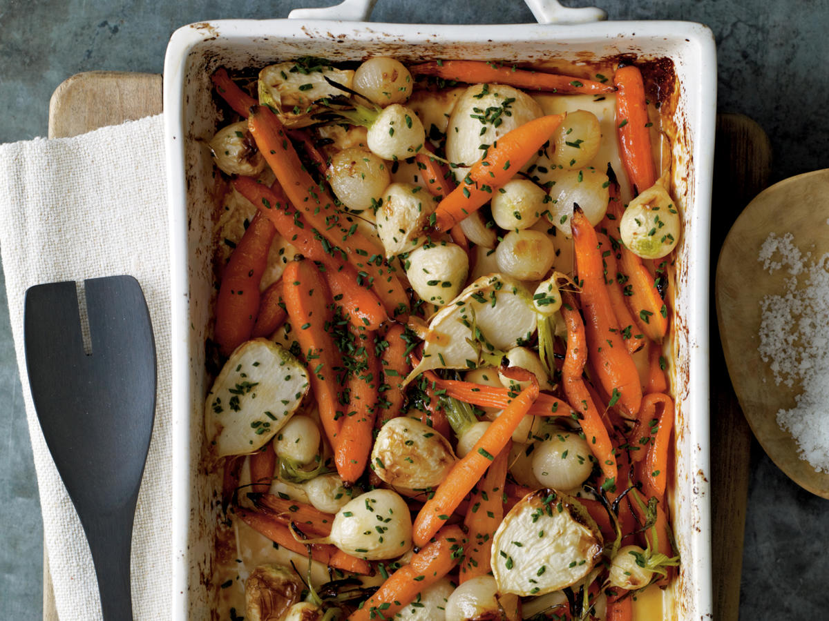 Roasted Root Vegetables with Sorghum and Cider