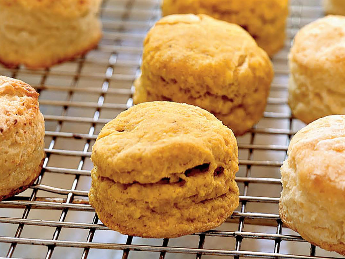 Spiced Pumpkin Biscuits with Orange Honey Butter Recipe