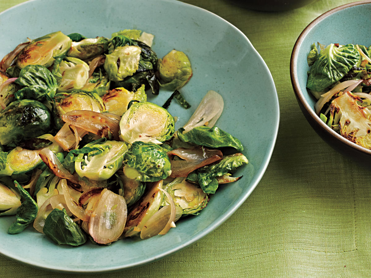 Sauteed Brussels Sprouts and Shallots