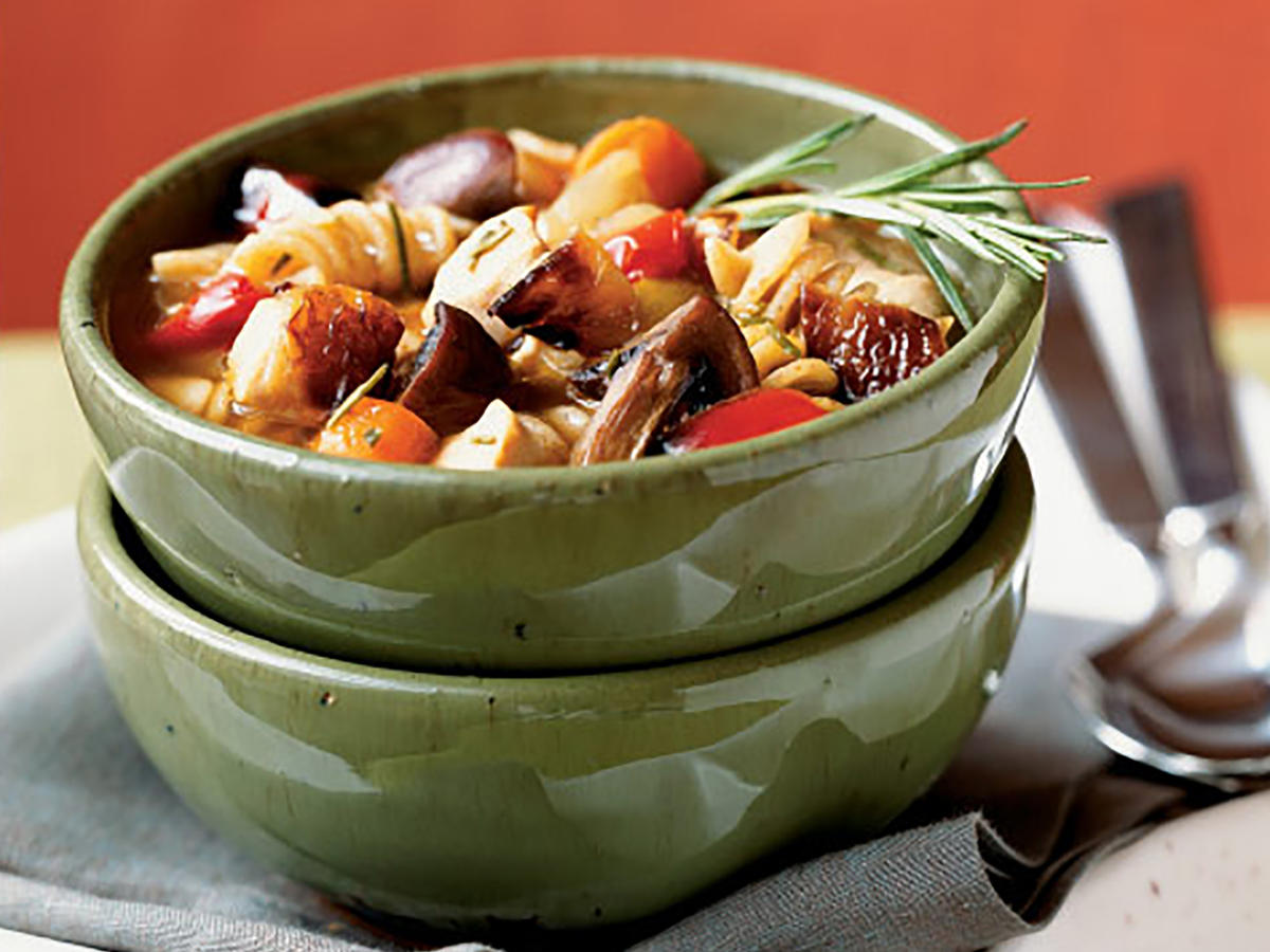 Roasted Vegetable-Rosemary Chicken Soup Recipe