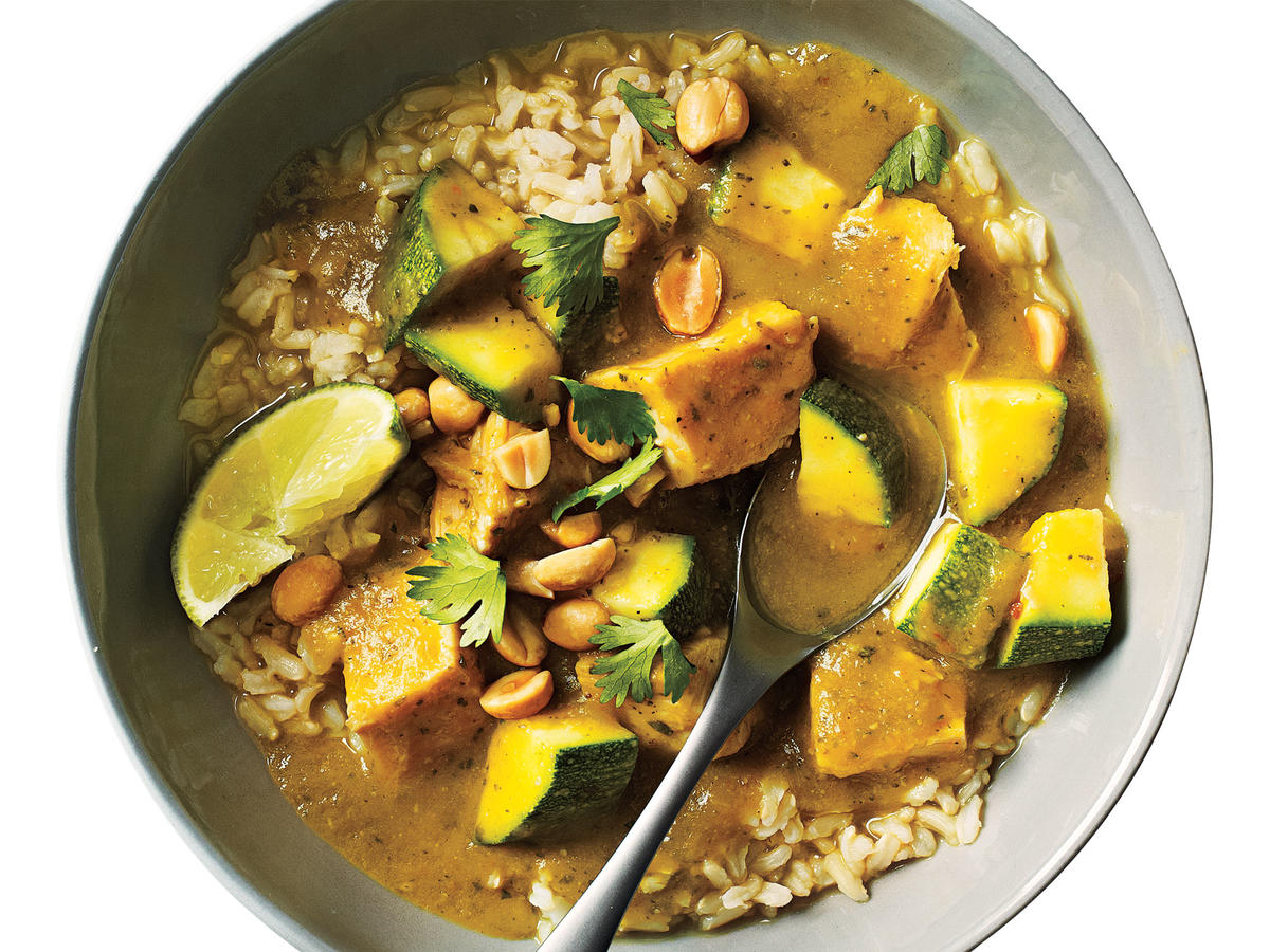 Thai Curry Stew with Turkey and Zucchini