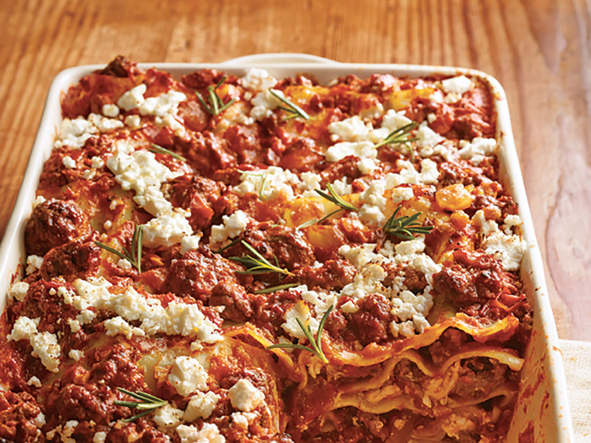 Greek Lamb and Feta Lasagna