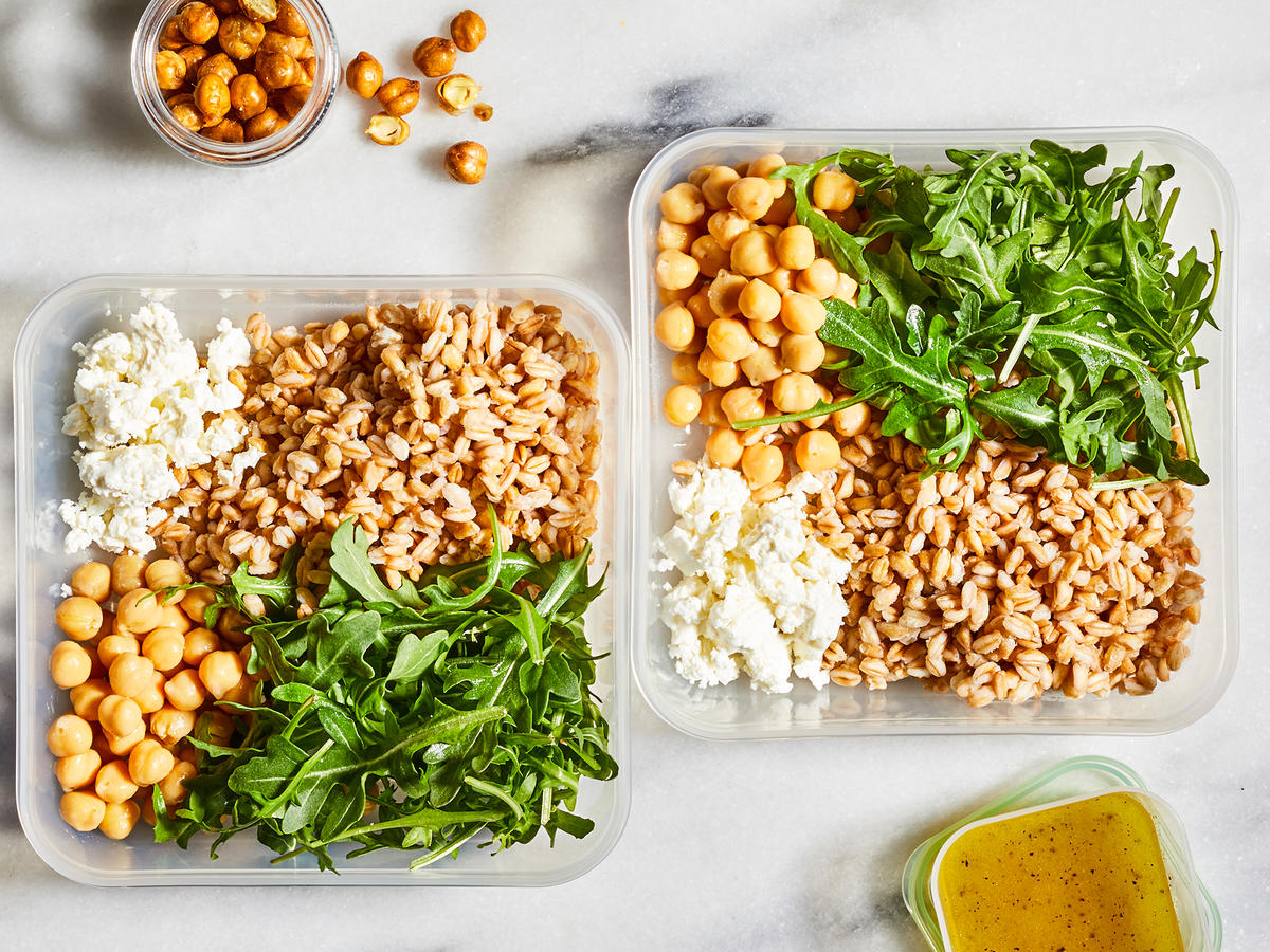 Wednesday: Farro, Chickpea, and Feta Salad Bowl