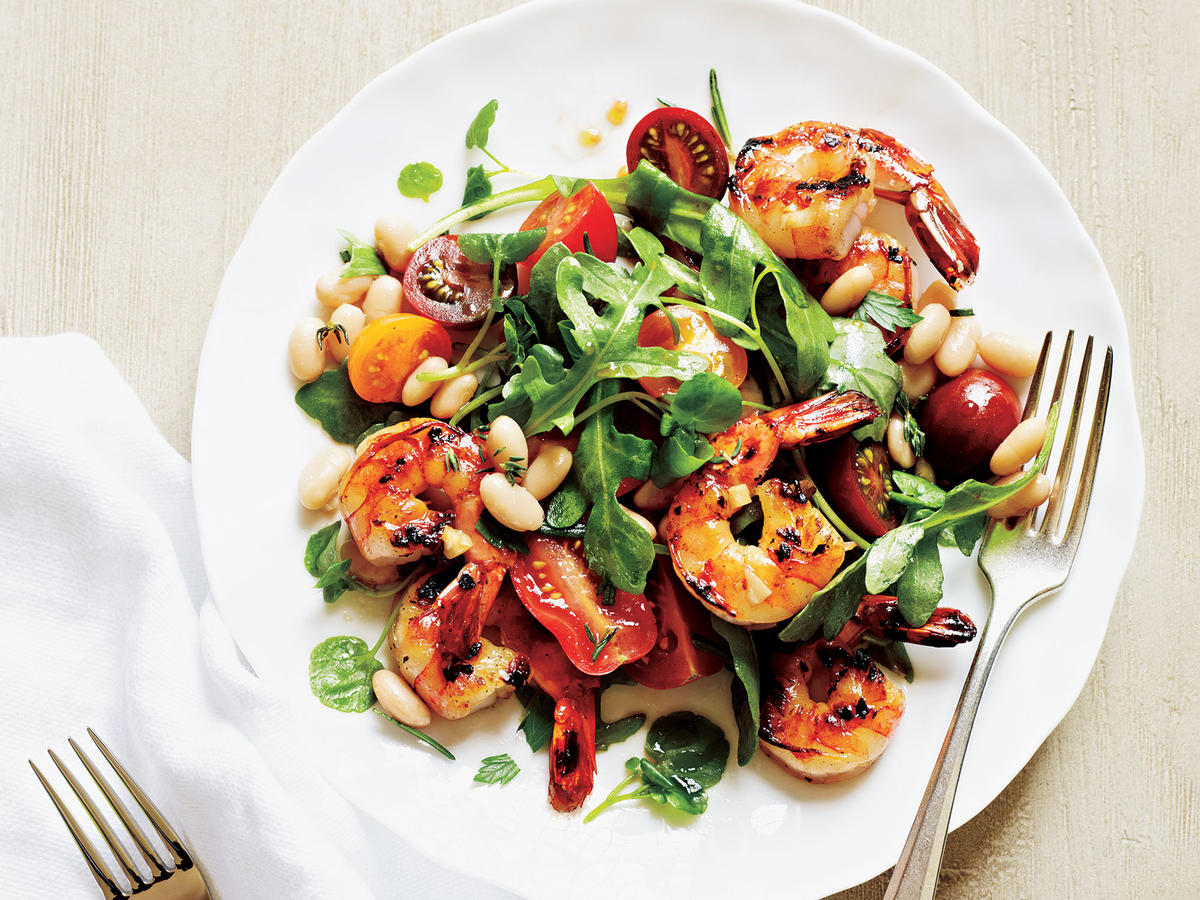 Herbed Shrimp and White Bean Salad