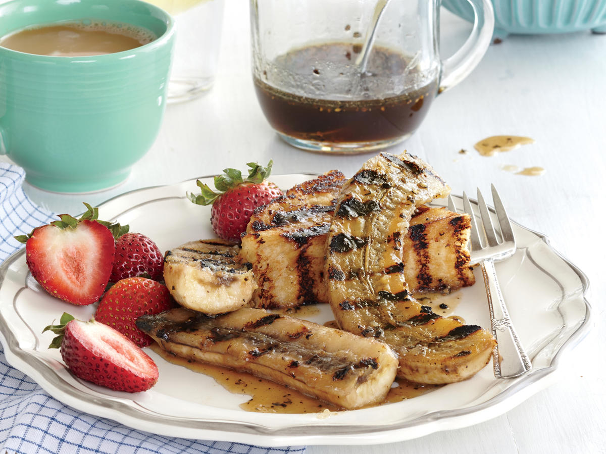 Grilled Bananas on Sugared Rum Toast