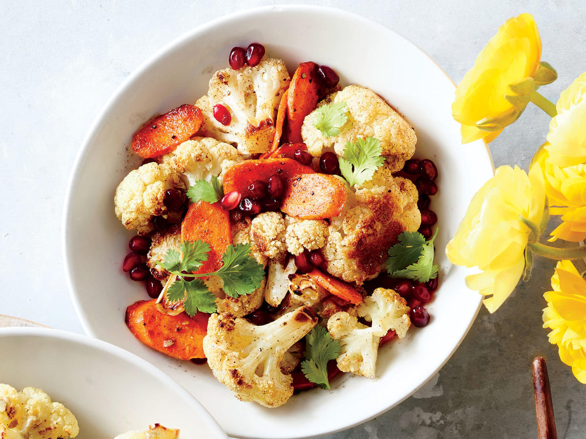 Spiced Roasted Cauliflower and Carrots