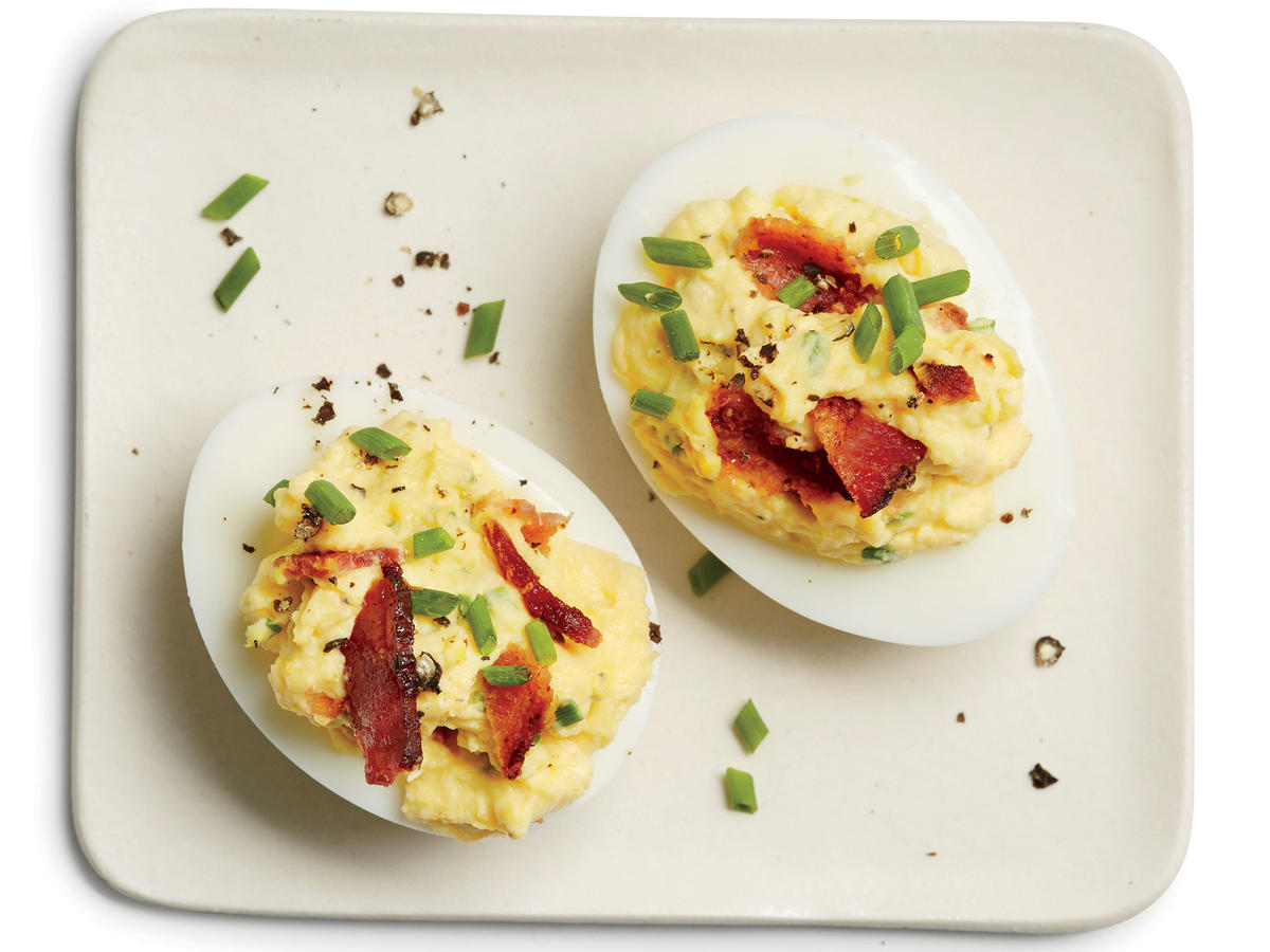 Bacon-Horseradish Deviled Eggs
