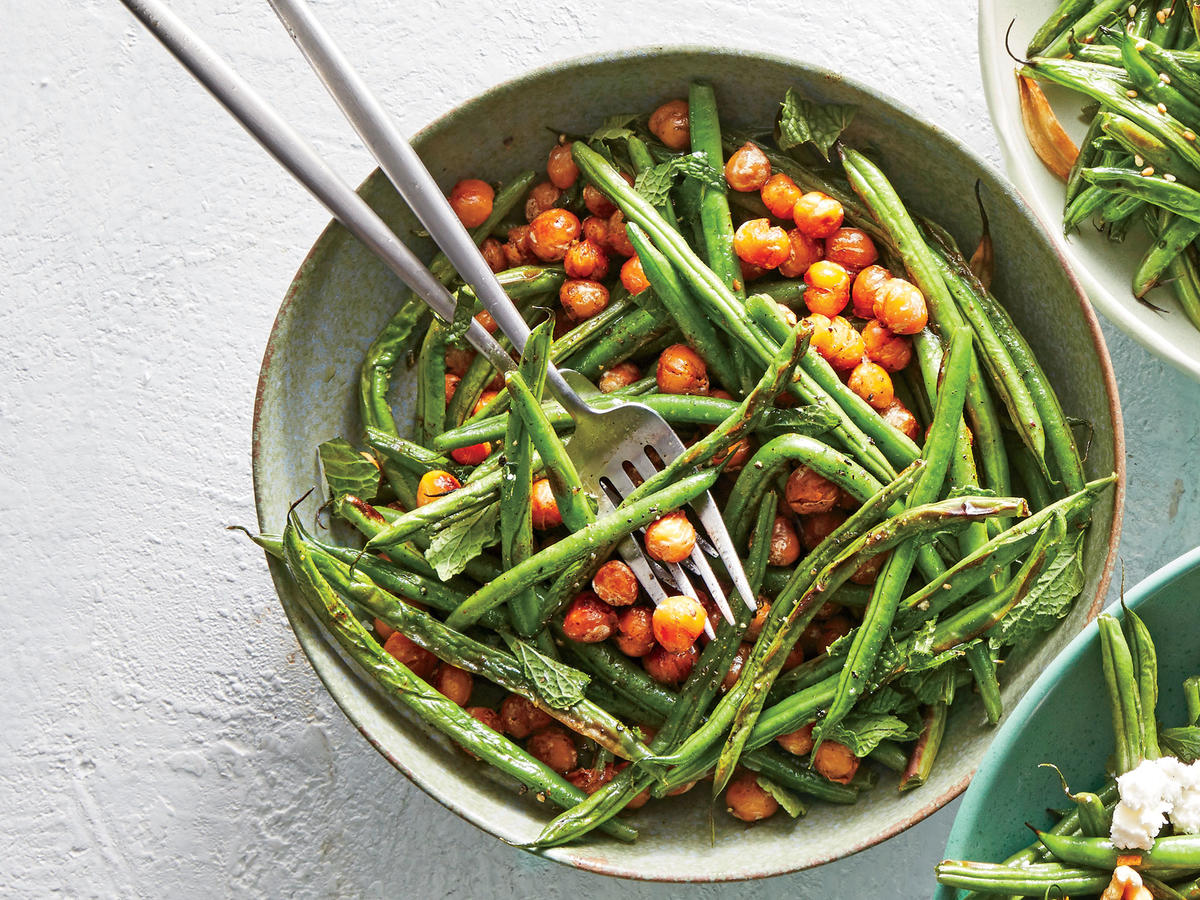Chickpea-and-Mint Green Beans