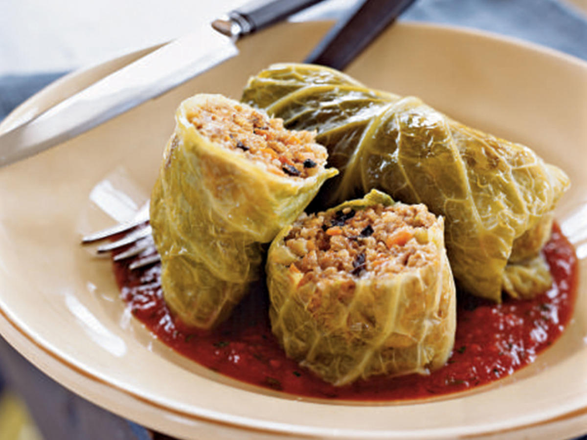 Whole Grain and Italian Sausage-Stuffed Cabbage
