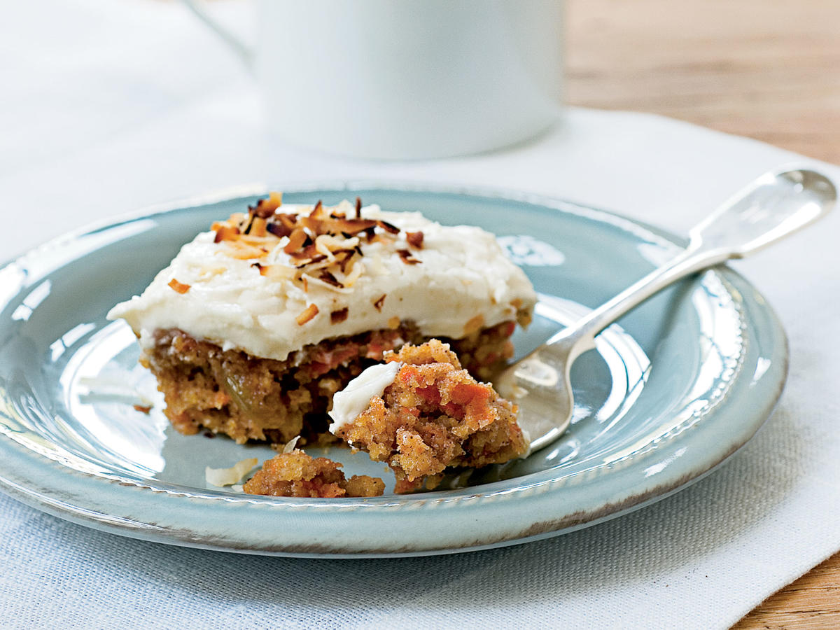 Carrot Cake With Toasted Coconut Cream Cheese Frosting