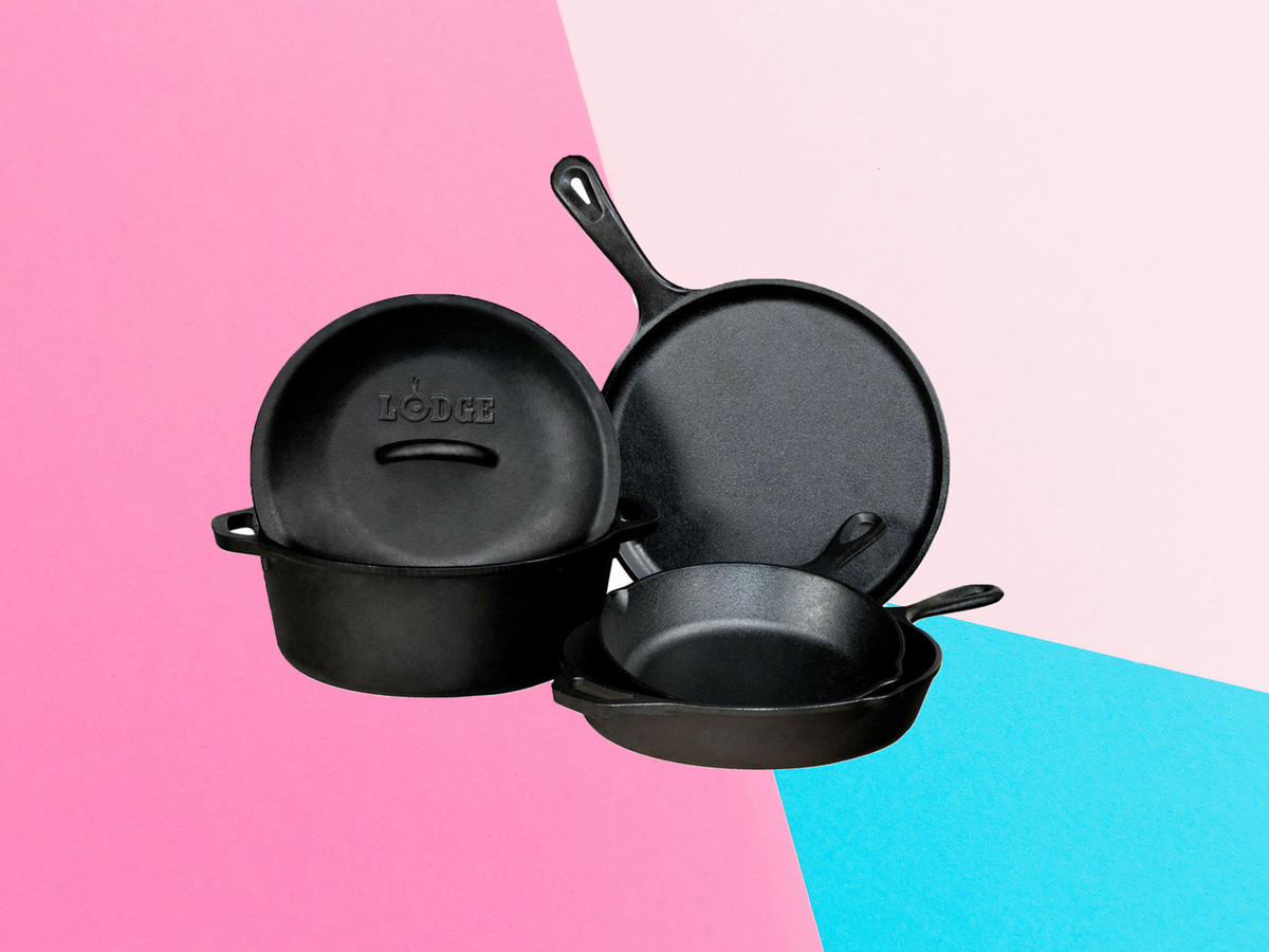 Lodge's Best Cast Iron Cookware Set Is on Super Sale on Amazon Right Now