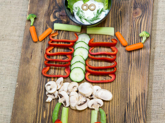 halloween crudite platter skeleton11jpg