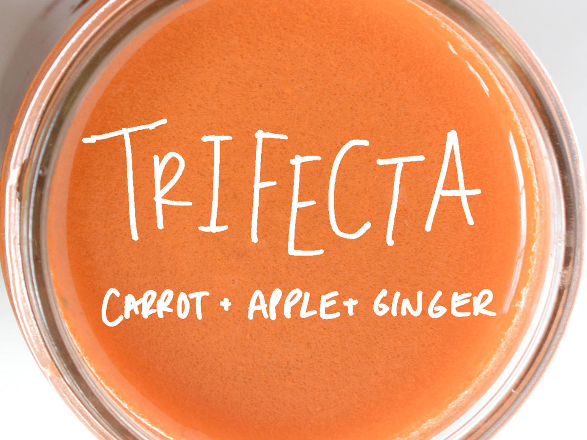 The Trifecta: Carrot-Apple-Ginger Juice Recipe